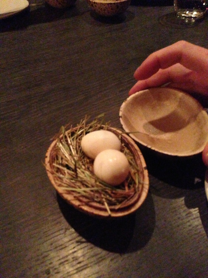 Pickled & smoked quail's egg