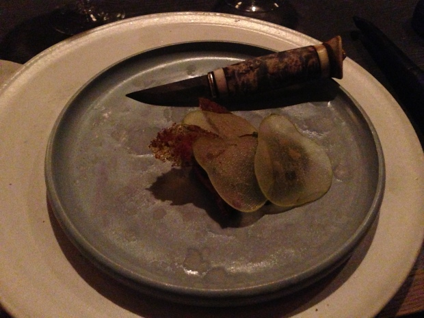 Wild duck & pear, Kale & beech leaves