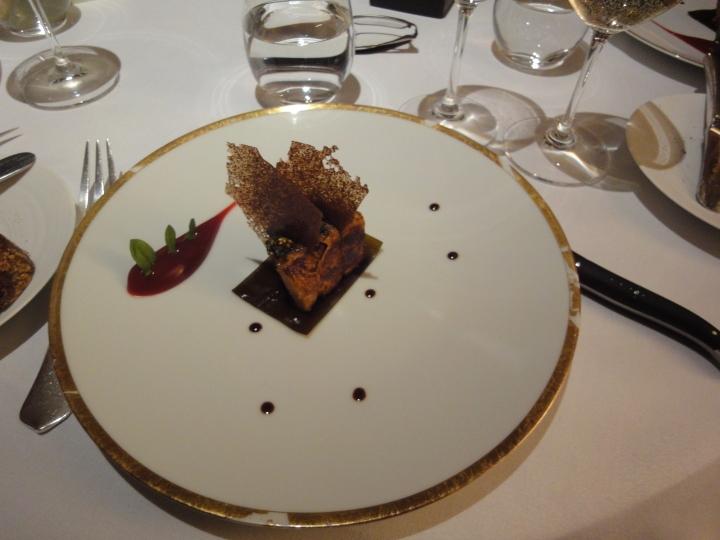 Roast Foie Gras, Barberry, Confit Kombu, Crab Biscuit