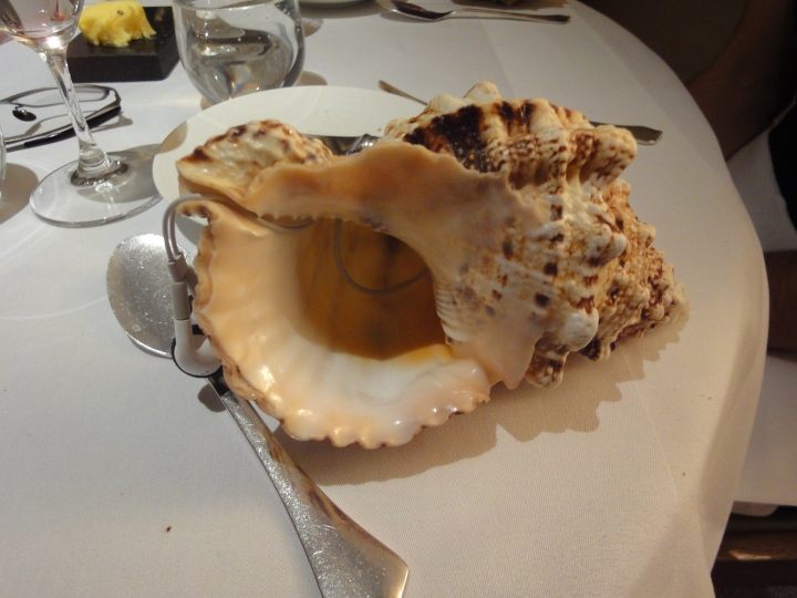 "The ""Sound of the Sea"" dish is joined by an iPod playing ocean sounds"