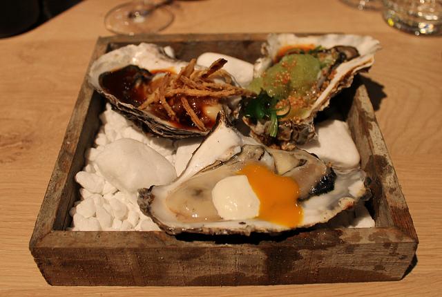 Gillardeau oester op 3 verschillende wijzen van de chef