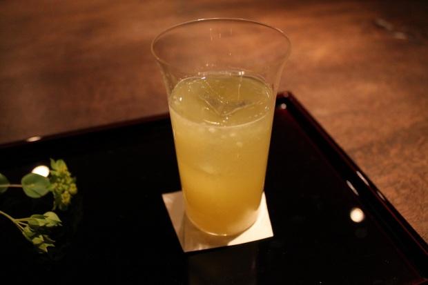 Cocktail #5: Sparkling sake, hassuku & wasabi