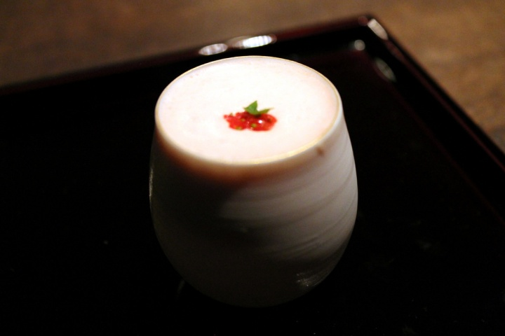 And the last one: Hot Dasai sake & cold strawberry cream