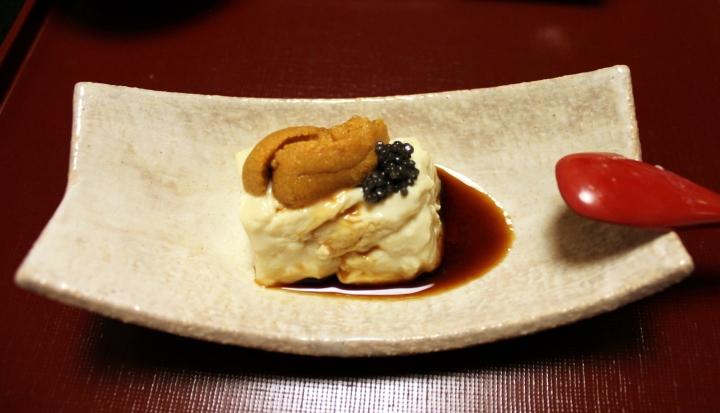 Tofu, uni( sea urchin), caviar
