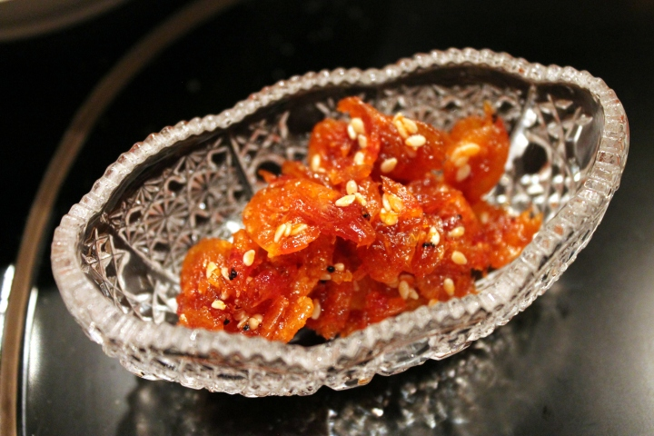 Caramelized Sesame Sakure Shrimp