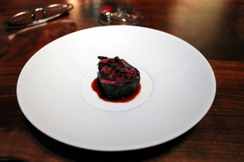 Fire in the sky beet, bone marrow, roasted over coals